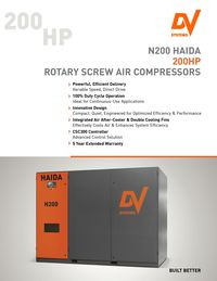 DV SYSTEMS, N200 HAIDA ROTARY SCREW AIR COMPRESSOR