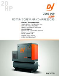 DV SYSTEMS, DENE D20 ROTARY SCREW AIR COMPRESSOR