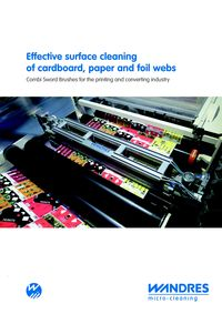 Wandres, Effective Surface Cleaning Of Cardboard, Paper And Foil Webs Literature