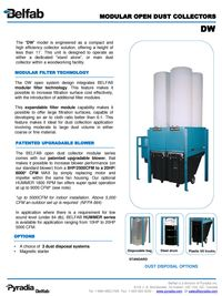 BELFAB MODULAR OPEN DUST COLLECTORS SERIES - DW